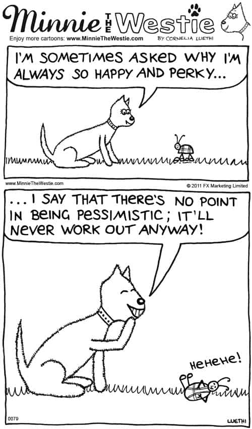 Minnie The Westie cartoon of the month: September 2012