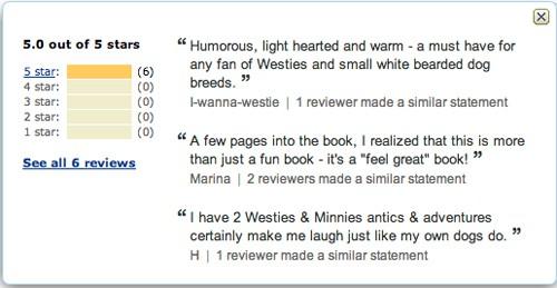 Minnie The Westie book - reviews on Amazon.com