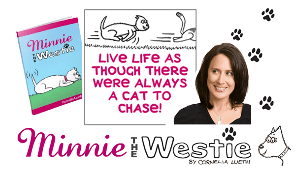 Minnie The Westie dog cartoons by Cornelia Luethi