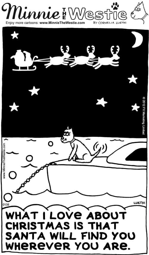 Minnie The Westie Christmas cartoon.